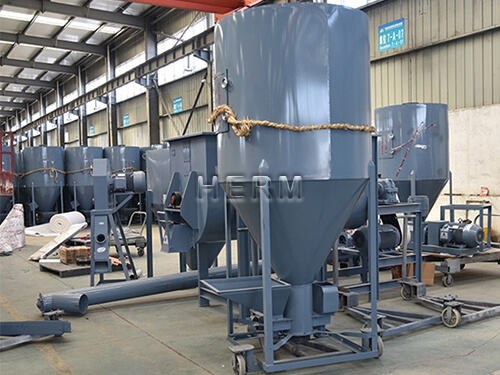 vertical feed mixer for sale, feed mill production line